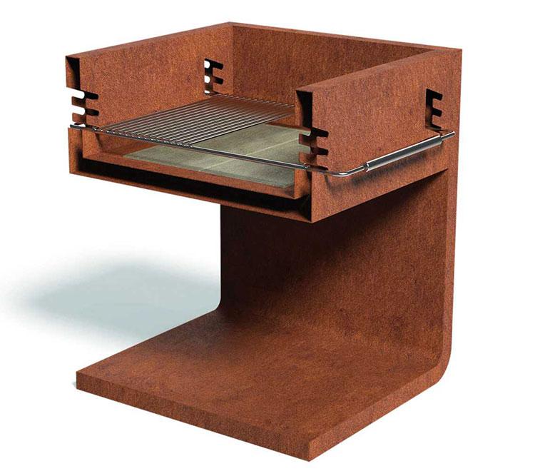 Modello di barbecue dal design moderno a legna n.02