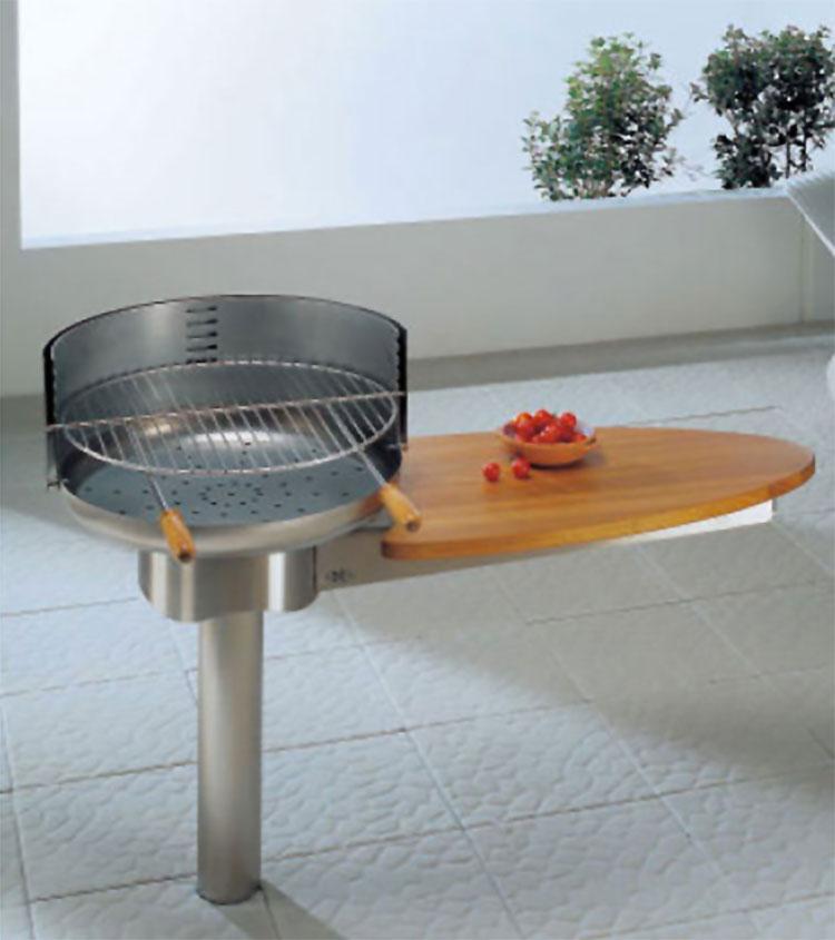 Modello di barbecue dal design moderno a legna n.04