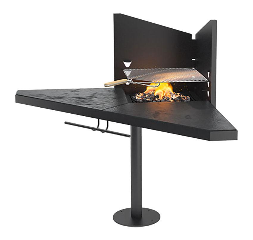Modello di barbecue dal design moderno a legna n.10
