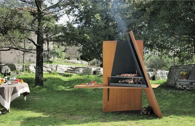Modello di barbecue dal design moderno a legna n.14