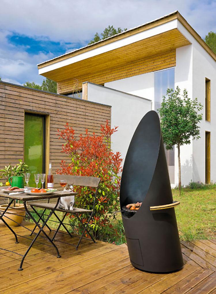 Modello di barbecue dal design moderno a legna n.15