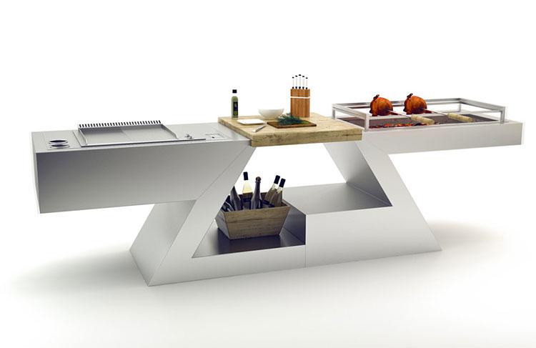 Cucina da esterno dal design moderno e funzionale n.02