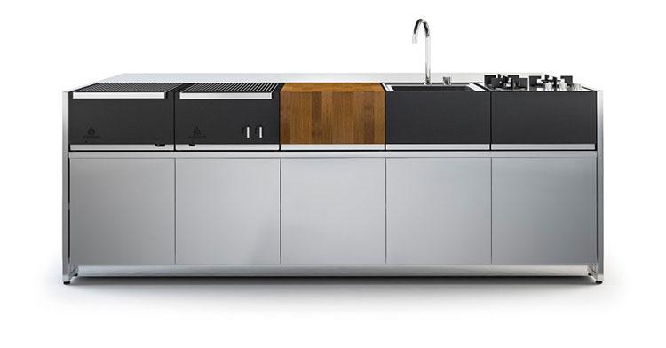 Cucina da esterno dal design moderno e funzionale n.03