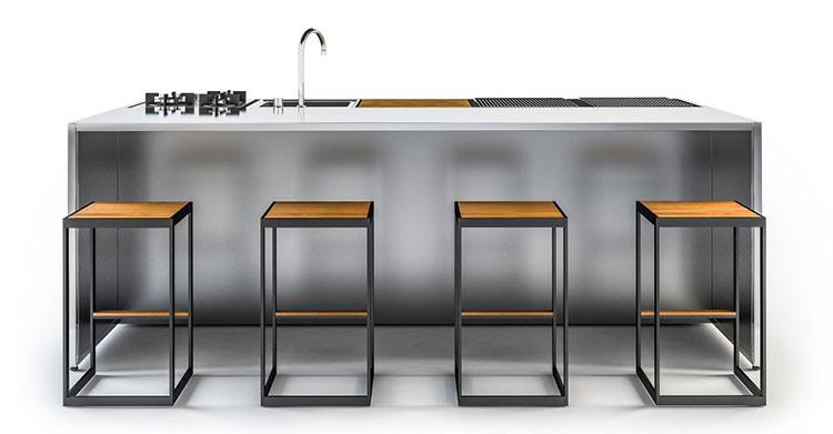 Mobili da cucina in acciaio design casa creativa e - Cucina in muratura da esterno ...