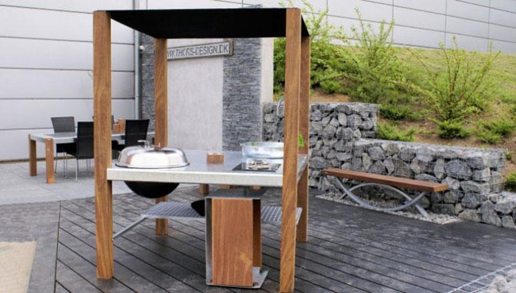 Cucina da esterno dal design moderno e funzionale n.10