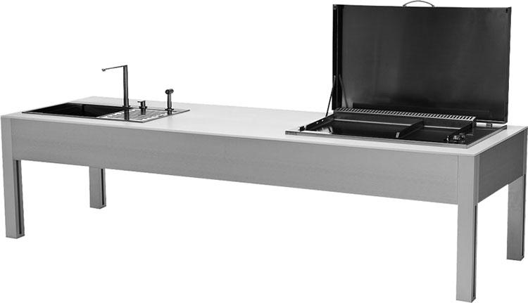 Cucina da esterno dal design moderno e funzionale n.17