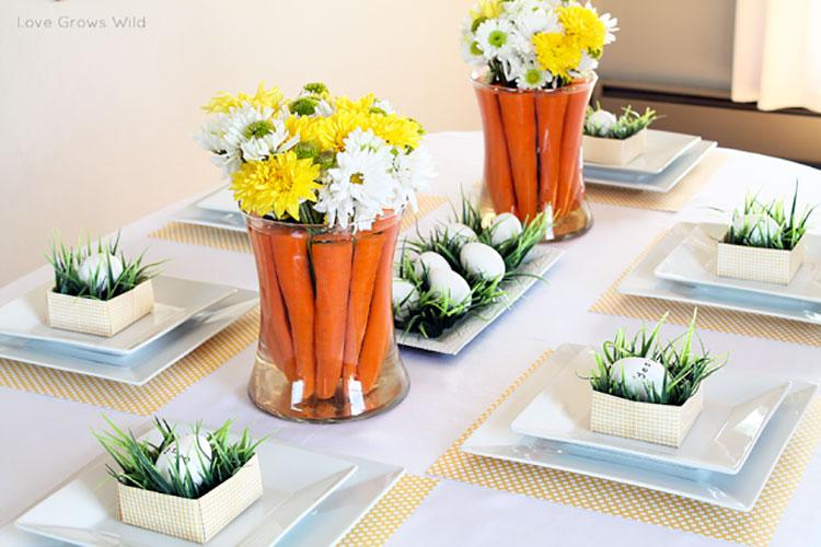 Idea per decorare la tavola di Pasqua n.01