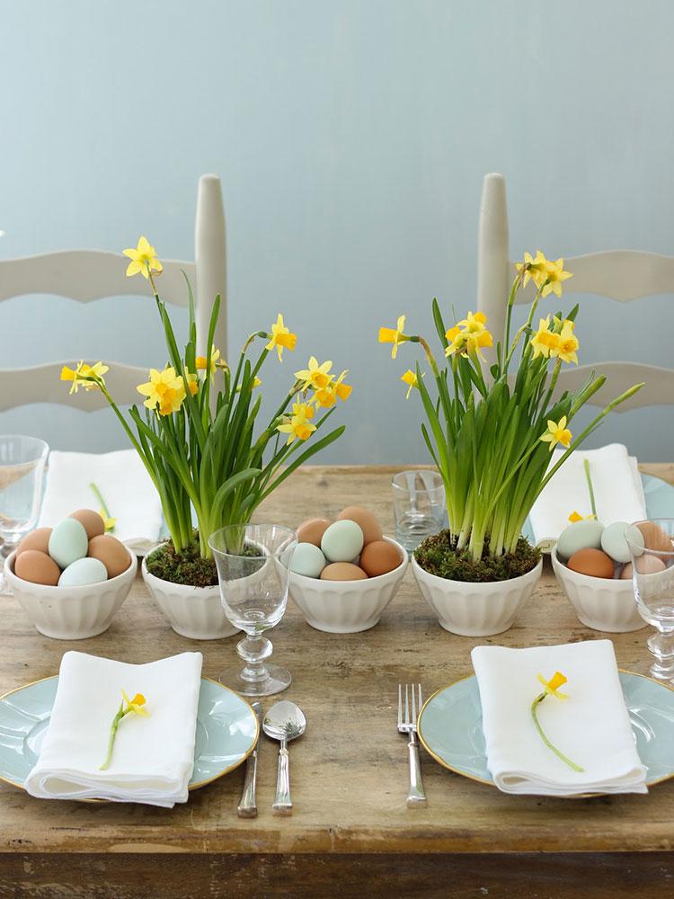 Idea per decorare la tavola di Pasqua n.02