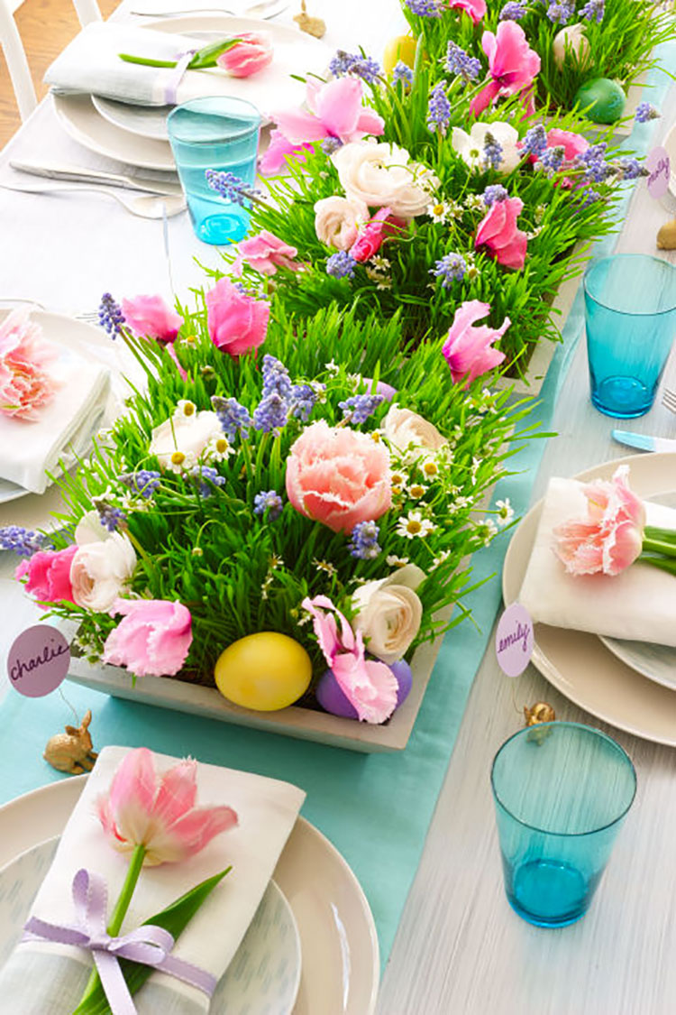 Idea per decorare la tavola di Pasqua n.04