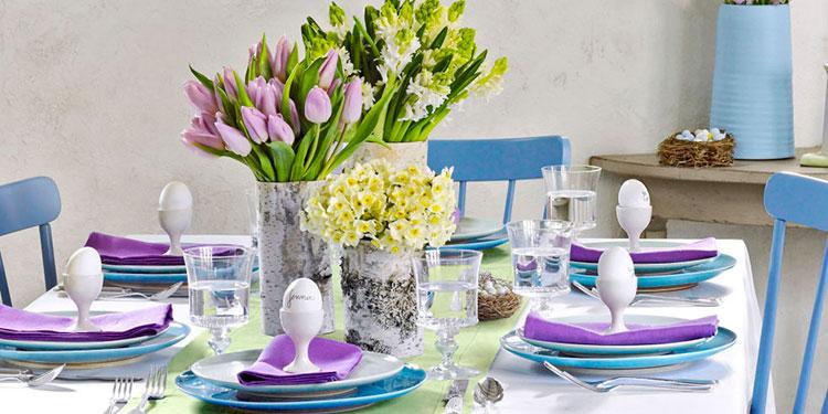 Idea per decorare la tavola di Pasqua n.05