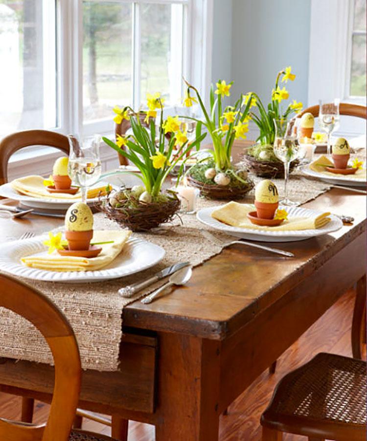 Idea per decorare la tavola di Pasqua n.08
