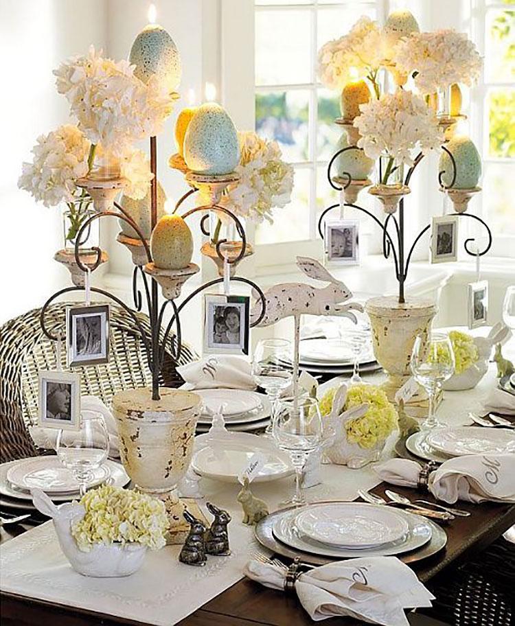 Idea per decorare la tavola di Pasqua n.09
