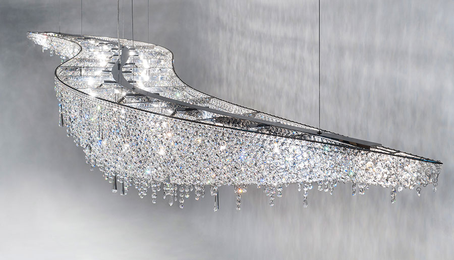 Lampadario Rosa Cristallo : Lampadario cristalli moderno protezioneazienda