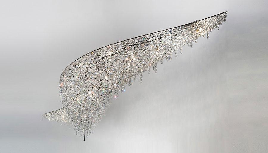 Lampadario in cristallo Monooi modello Vague n.02