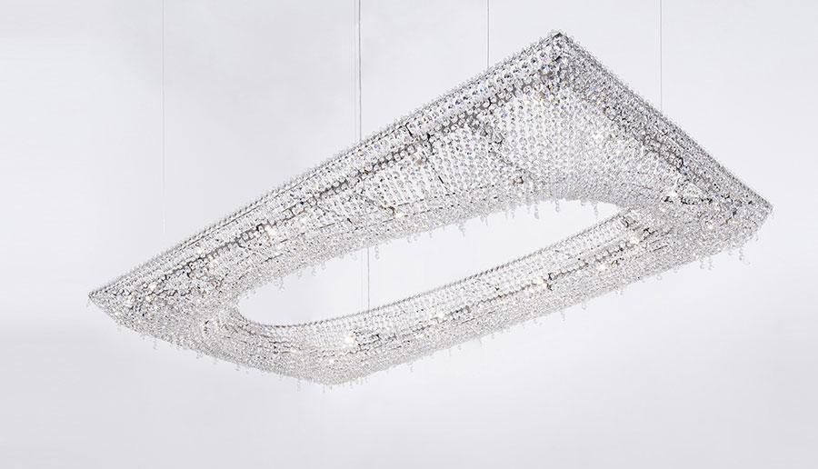 Lampadario in cristallo Monooi modello Artikoi n.02