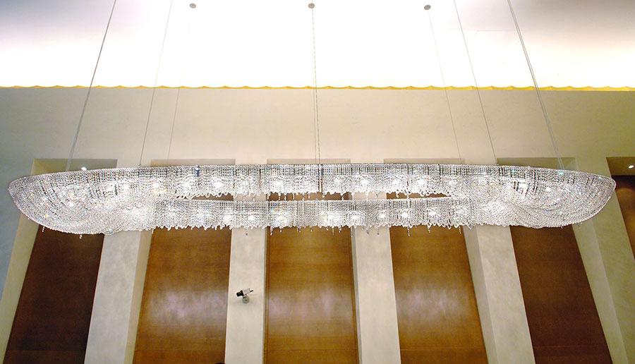 Lampadario in cristallo Monooi modello Atoll n.02