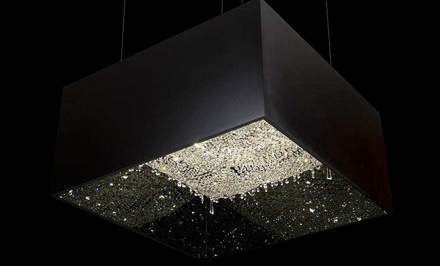 Lampadario in cristallo Monooi modello Deep Sky n.02