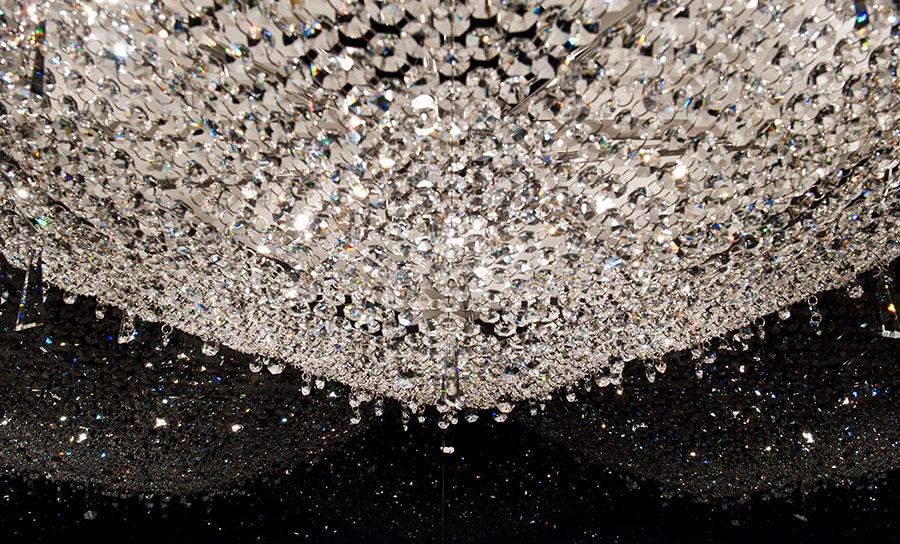 Lampadario in cristallo Monooi modello Deep Sky n.04