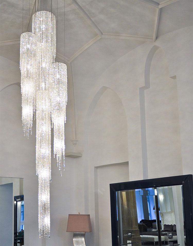 Lampadario in cristallo Monooi modello Fjord n.01