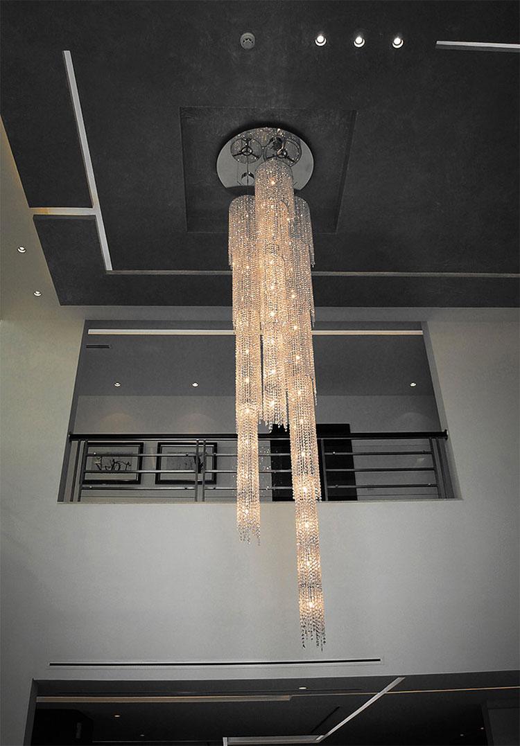 Lampadario in cristallo Monooi modello Fjord n.04