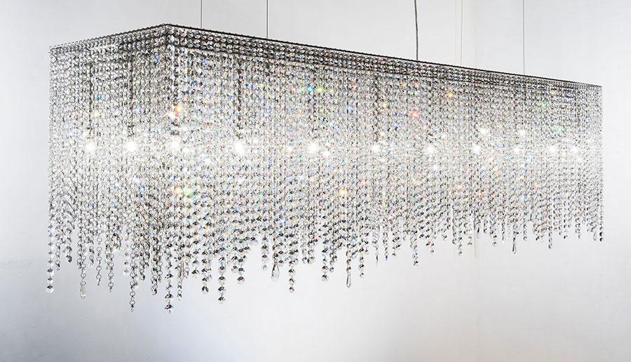 Lampadario in cristallo Monooi modello Linea n.01