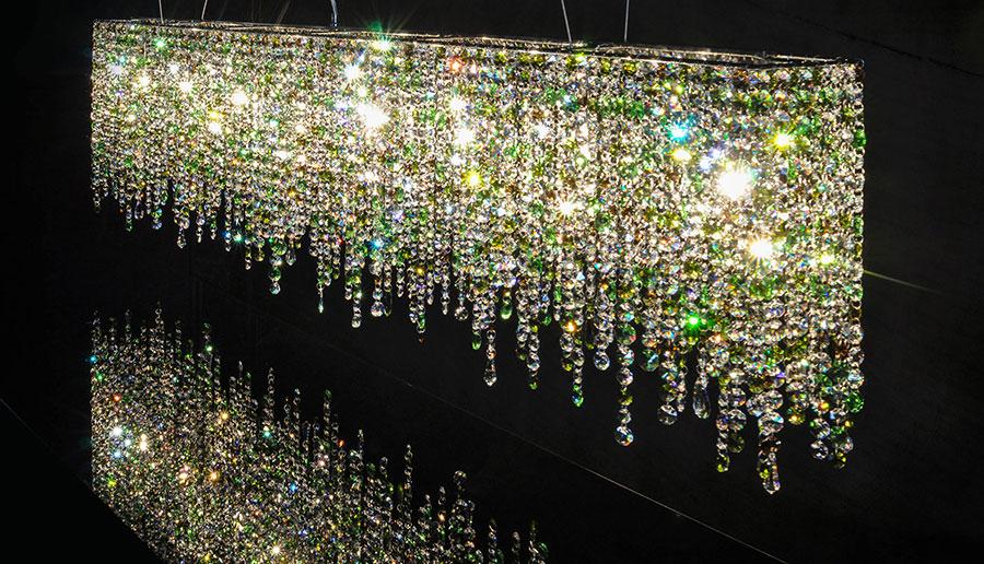 Lampadario in cristallo Monooi modello Linea n.04
