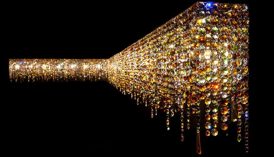 Lampadario in cristallo Monooi modello Linea n.05