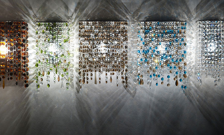 Lampadario in cristallo Monooi modello Linea W n.02