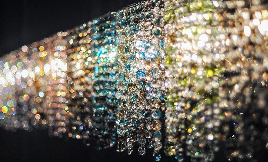 Lampadario in cristallo Monooi modello Linea W n.03