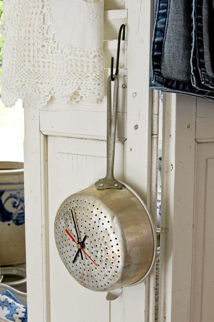 Orologio fai da te stile shabby chic