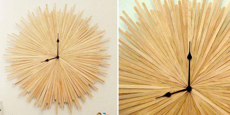 Orologi da parete fai da te originali e creativi - Parete in legno fai da te ...