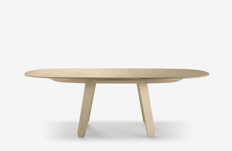 Modello di tavolo rotondo allungabile moderno n.04