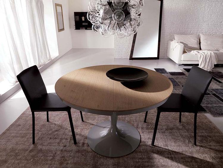 Modello di tavolo rotondo allungabile moderno n.05