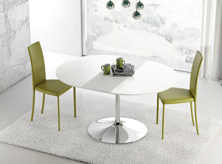 Modello di tavolo rotondo allungabile moderno n.06