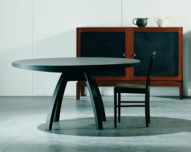 Modello di tavolo rotondo allungabile moderno n.07