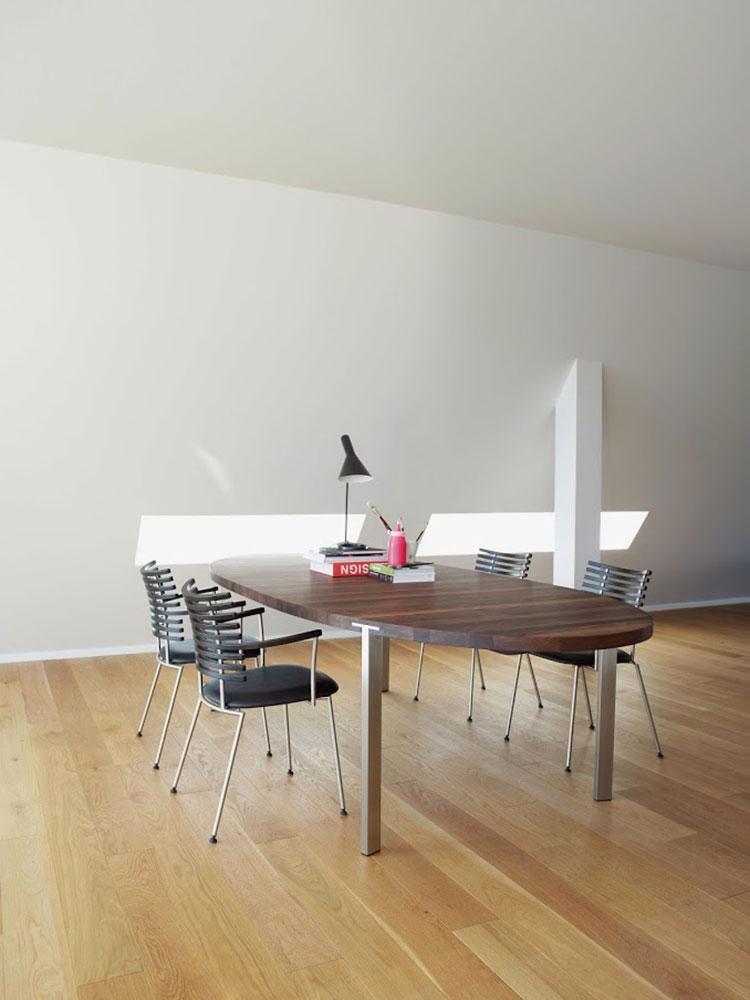 Modello di tavolo rotondo allungabile moderno n.08