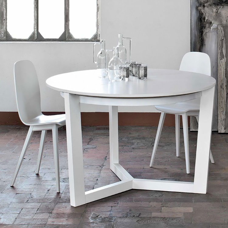 Modello di tavolo rotondo allungabile moderno n.09