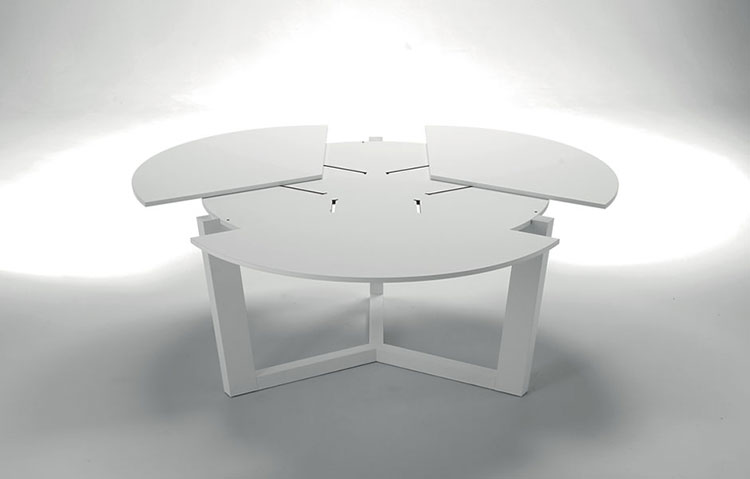 Modello di tavolo rotondo allungabile moderno n.10