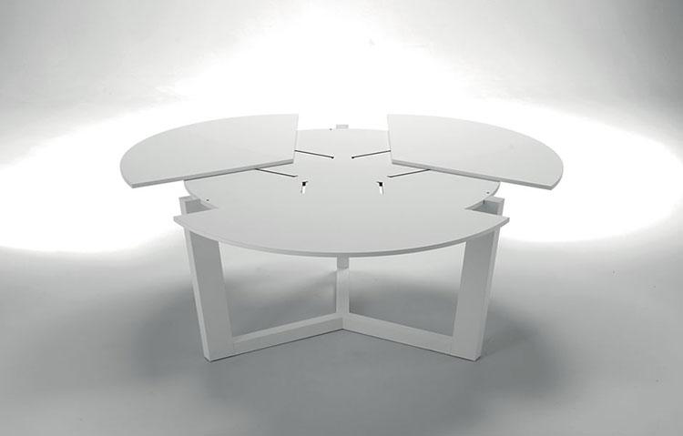 Tavolo Rotondo Moderno Design.Tavolo Rotondo Allungabile Design Moderno Tavolo Vetro Pranzo Epierre