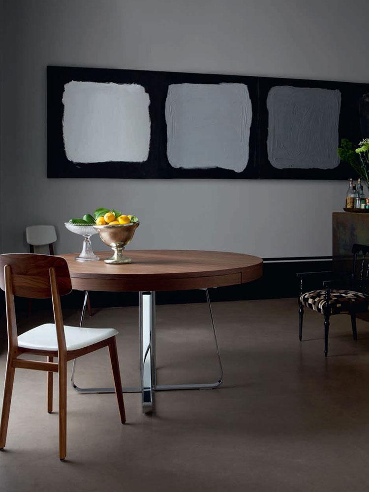 Modello di tavolo rotondo allungabile moderno n.11