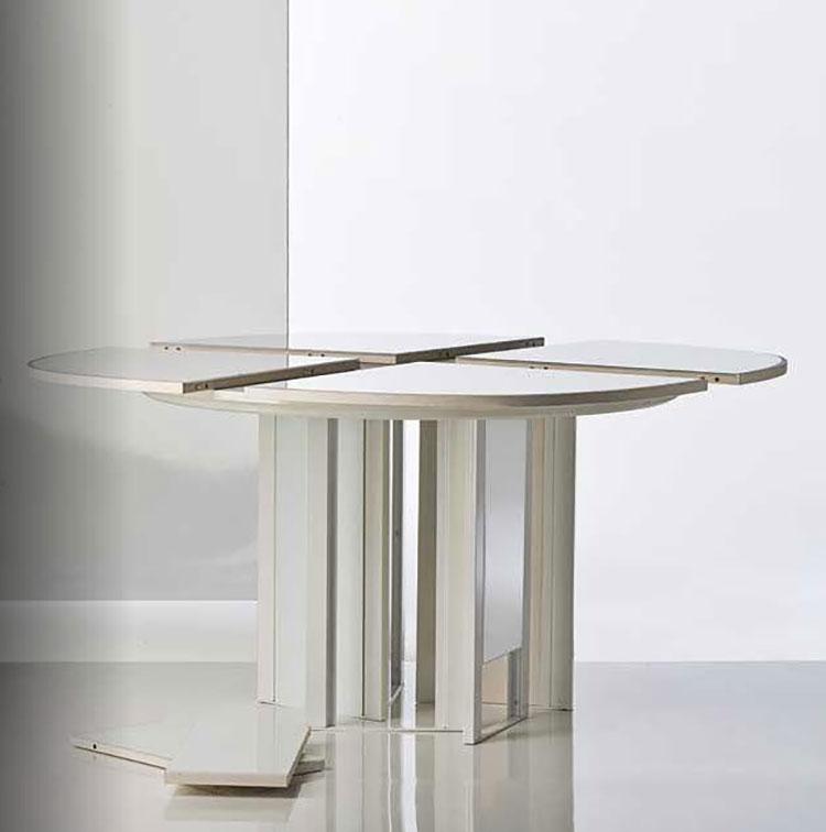 Modello di tavolo rotondo allungabile moderno n.12