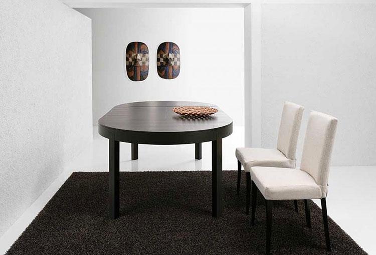 Modello di tavolo rotondo allungabile moderno n.13