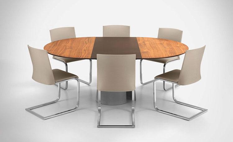 Modello di tavolo rotondo allungabile moderno n.14