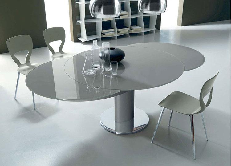 Modello di tavolo rotondo allungabile moderno n.15