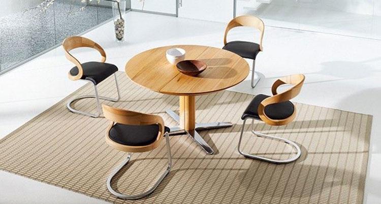 Modello di tavolo rotondo allungabile moderno n.16