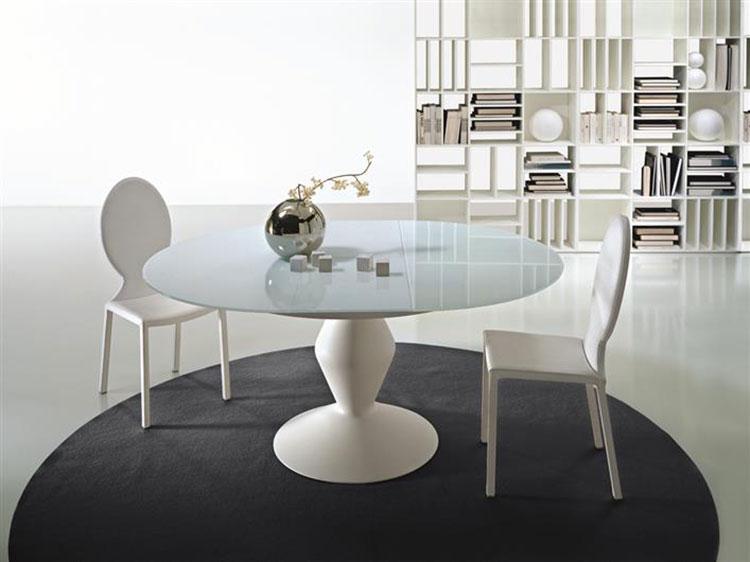 Modello di tavolo rotondo allungabile moderno n.17