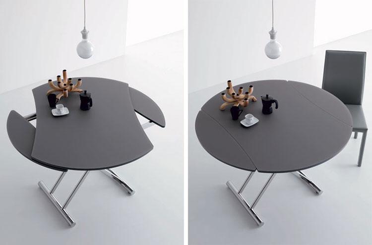 Modello di tavolo rotondo allungabile moderno n.18