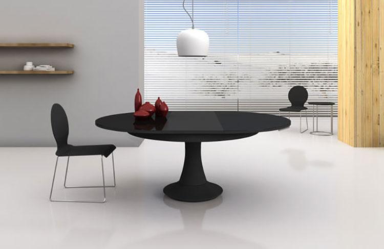Modello di tavolo rotondo allungabile moderno n.19