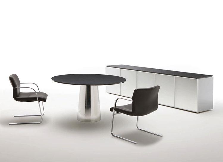 Modello di tavolo rotondo allungabile moderno n.20