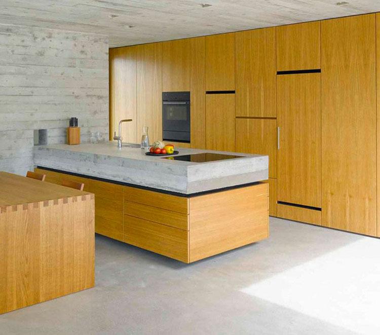 Top per cucine in cemento 20 piani di lavoro dal design unico for Piano cucina in cemento